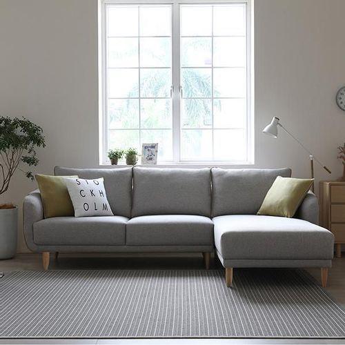 Sofa Importado En L Gris Claro