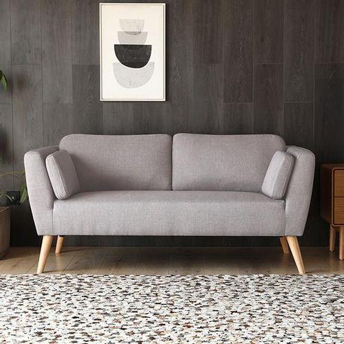 Sofa Importado 2 Puestos Gris Claro