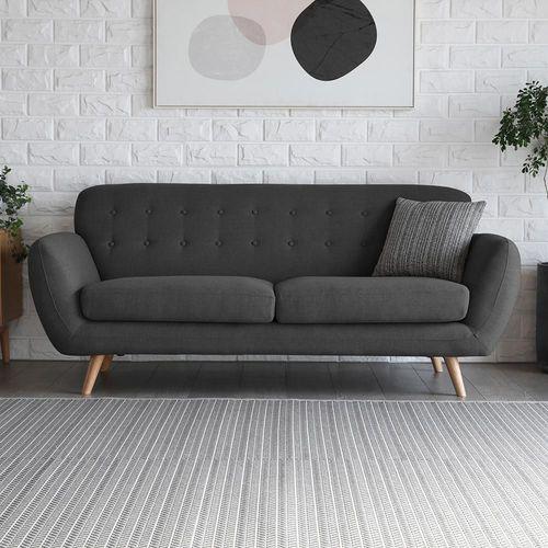 Sofa Importado 3 Puestos Gris Oscuro
