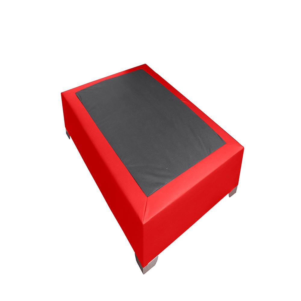 Base Cama Premium Top 120 X 190 Rojo