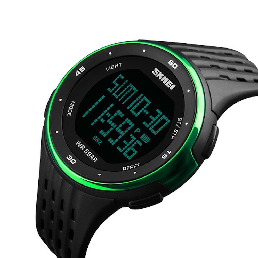 captura nuevo autentico donde puedo comprar Reloj Deportivo Digital Led SKMEI 1219 Natacion 50M Verde   Éxito ...