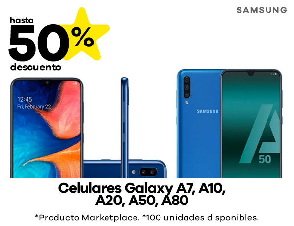 Celulares Samsung Galaxy A7, A10, A20, A50, A80