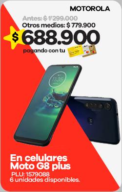 Celulares Moto G8 plus