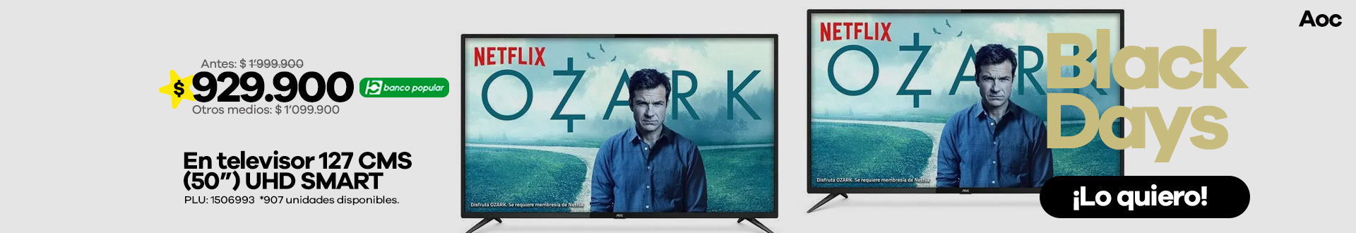 televisor-led-aoc-127cm-50-pulgadas-uhd-smart-tv