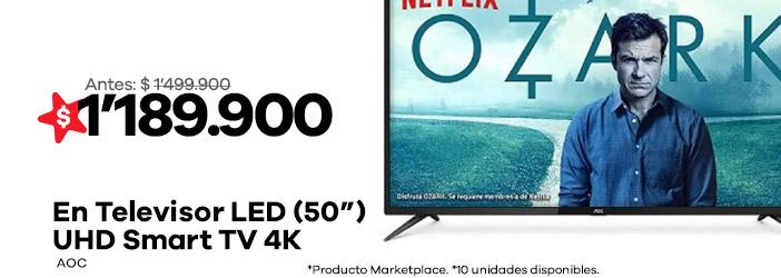 televisor-50-pulgadas-led-aoc-uhd-smart-tv-4k
