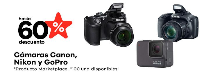 Camaras Canon, Nikon y GoPro