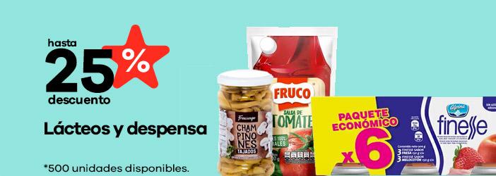 lacteos y productos para tu despensa