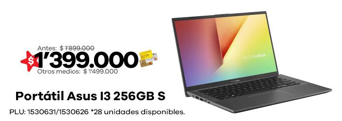 COMPUTADOR PORTATIL I3 256GB S