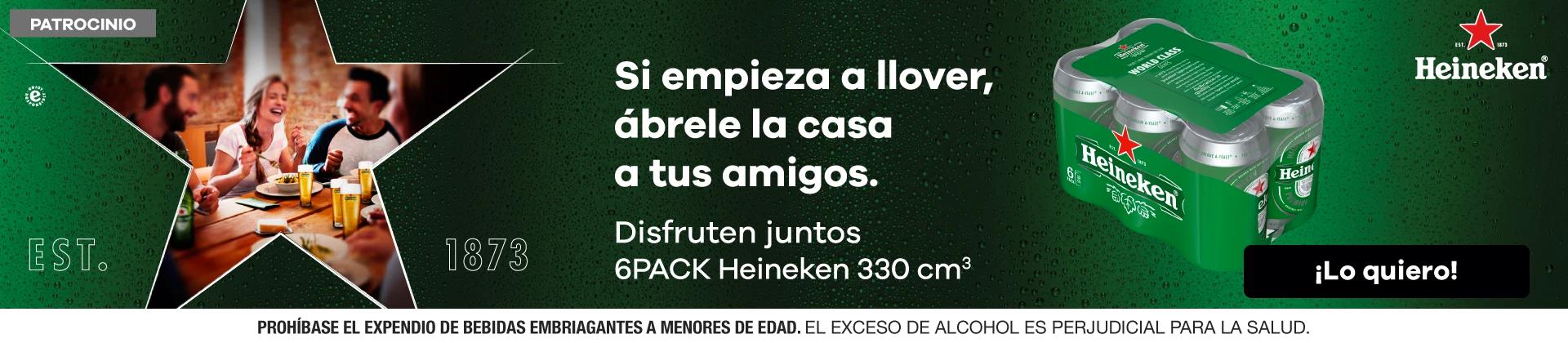 6 pack Heineken