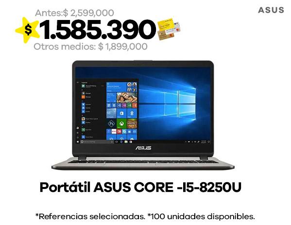 PORTATIL ASUS CORE -I5-8250U