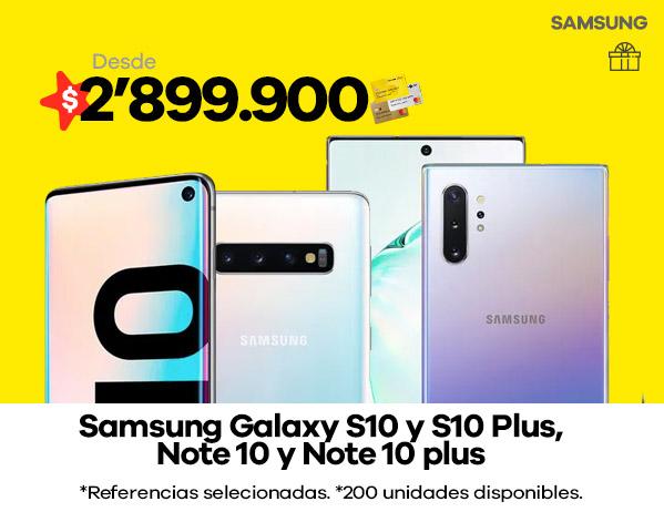 Samsung Galaxy S10 y S10 Plus Note 10 y Note 10 plus