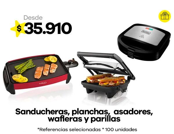 SANDUCHERAS - PLANCHAS- ASADOR-WAFLERA- PARRILLA