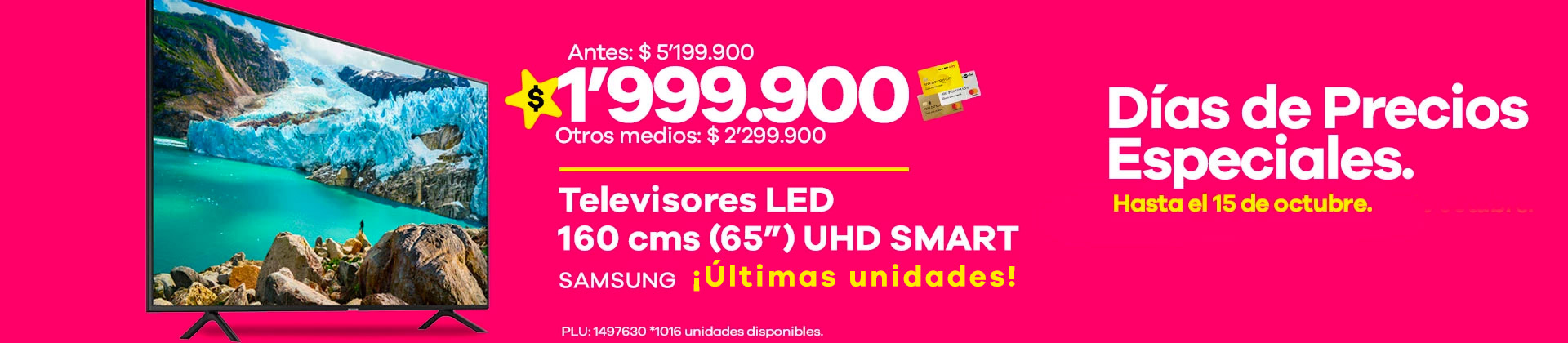 "Televisor Samsung 65"""